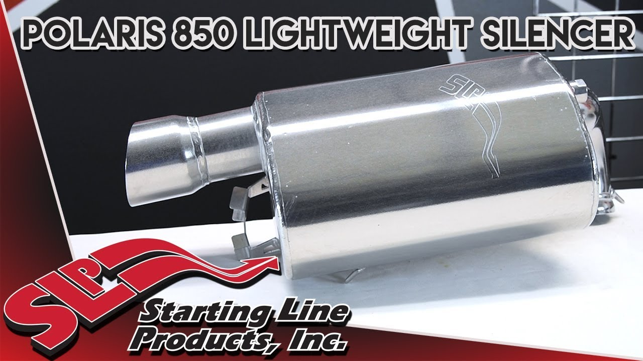 Polaris 850 Lightweight Silencer Part Overview